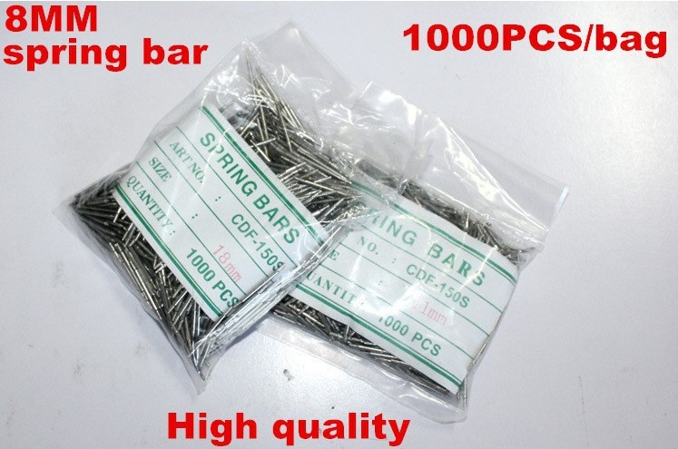 Wholesale 1000PCS / bag High quality watch repair tools & kits 8MM spring bar watch repair parts -041425 | Watchbands