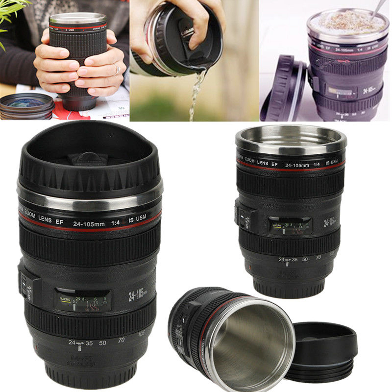 New 400ML Creative Emulation Camera Lens Mugs Plastic Coffee Tea Water Bottle Cup With Lid Novelty Travel Mug Items Cups# my favouite travel mug tea coffee water vacuum cup thermos bottle stainless steel water bottle mug ice cream