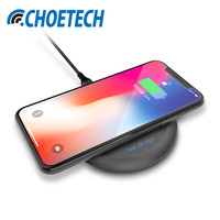 CHOETECH 10W QI Wireless Charger For IPhone 8 X Fast Wireless Charging For Samsung S8 S7