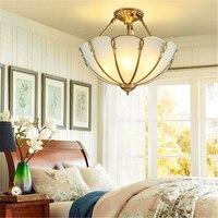 Европейский медный потолочный светильник американский простой Гостиная огни полулампа Ресторан огни атмосфера медные Огни LU623 ZL142