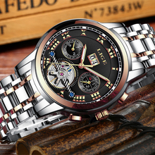 2018 New LIGE Brand Watch Men Top Luxury Automatic Mechanical Watch Men Stainless Steel Clock Business Watches Relogio Masculino