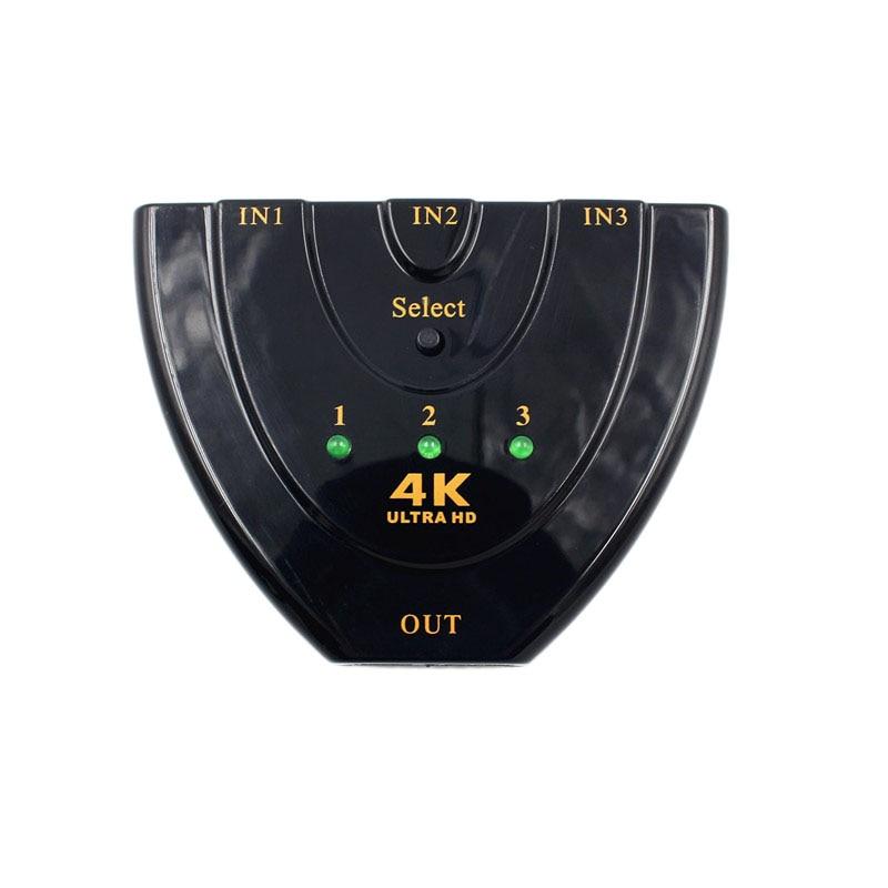 Mini 4K*2K 3D 3 Port HDMI Switch 1.4b Switcher HDMI Splitter 1080P Out Port Hub for DVD HDTV Xbox PS3 PS4 Control SystemMini 4K*2K 3D 3 Port HDMI Switch 1.4b Switcher HDMI Splitter 1080P Out Port Hub for DVD HDTV Xbox PS3 PS4 Control System