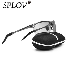 2017 Brand New Designer Photochromic Sunglasses Men Fashion Polarized Aluminum Magnesium Discoloration Driving Sun glasses Male