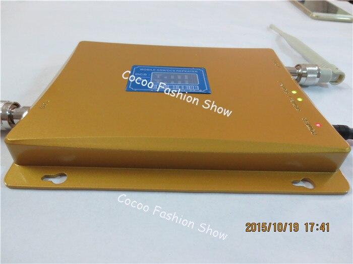 Affichage LCD GSM 900mhz DCS 1800mhz double bande Booster 4G répéteur de Signal de téléphone portable amplificateur de signal cellulaire + antennes - 4