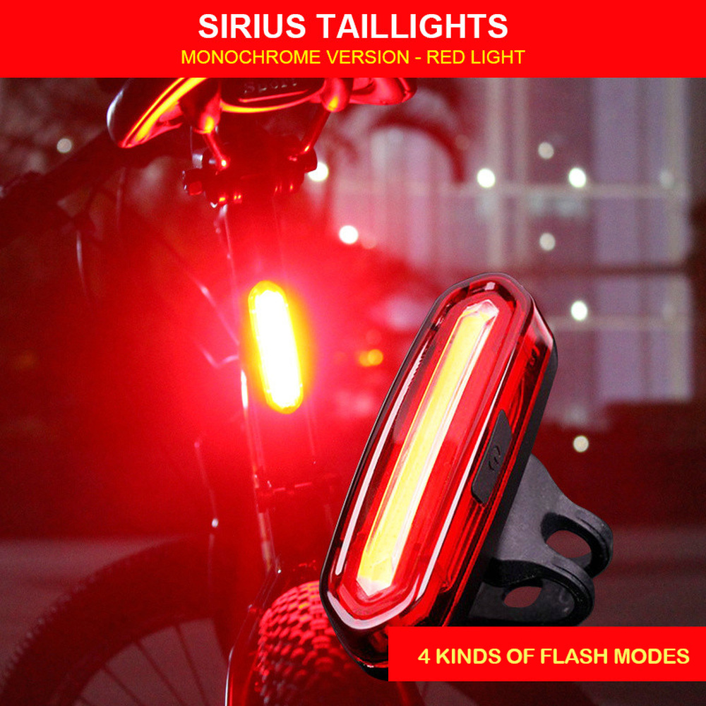 Bicycle USB Chargeable Bike Rear Light LED Lamps LED Tail Lights Outdoor Cycling