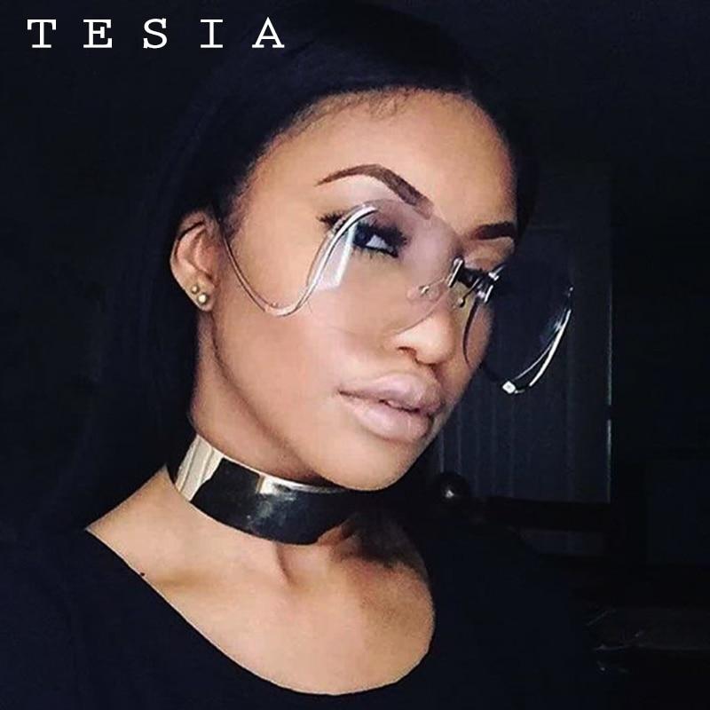 2017 TESIA Kacamata Fashion Wanita Oversize Sunglasses Mental Bingkai - Aksesori pakaian - Foto 2