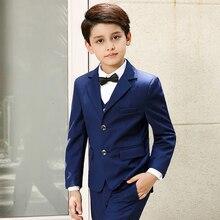 5pcs/Set Boys Suits For Weddings Kids Prom Suits Black Wedding Suits Kids Blazers Boys Clothing Set Boy Formal Classic Costume