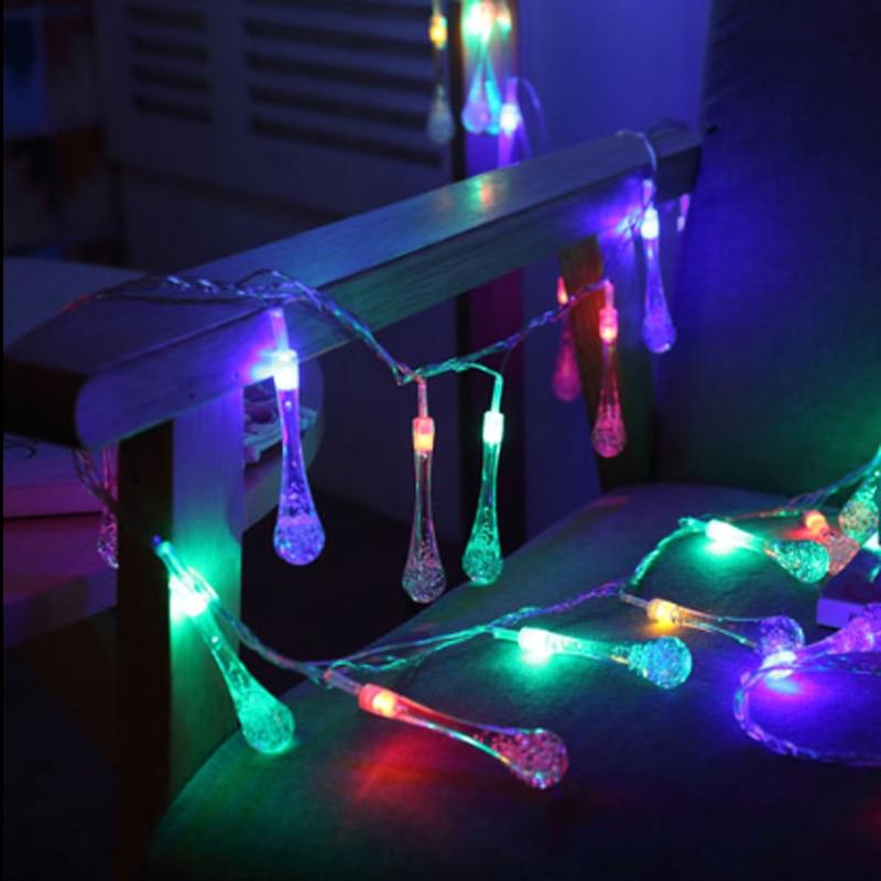 5m 20 led raindrop led christmas lights multicolor outdoor string lights for outside garden patio party christmas multicolor in lighting strings from lights