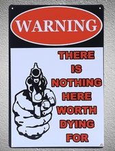 1 pc Warning No trespassing sign Tin Plate Sign plate wall man cave Decoration Art Dropshipping Poster metal