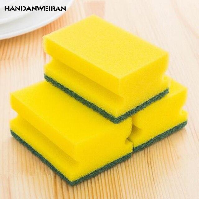 3pcs sponge dishwasher Magic Eraser cleaning cloth melamine cotton sponge  holder brush for Kitchen cleaning tools e1eb226bc66b7
