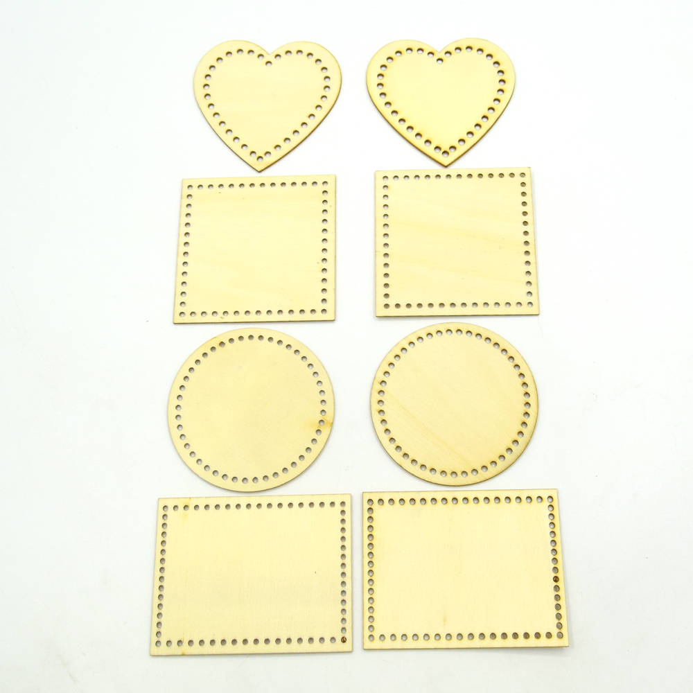 50pcs 8cm Wooden Love. Square. Rectangle Round Circles Ring Craft Card Making Scrapbooking DIY Embellishment 20185153
