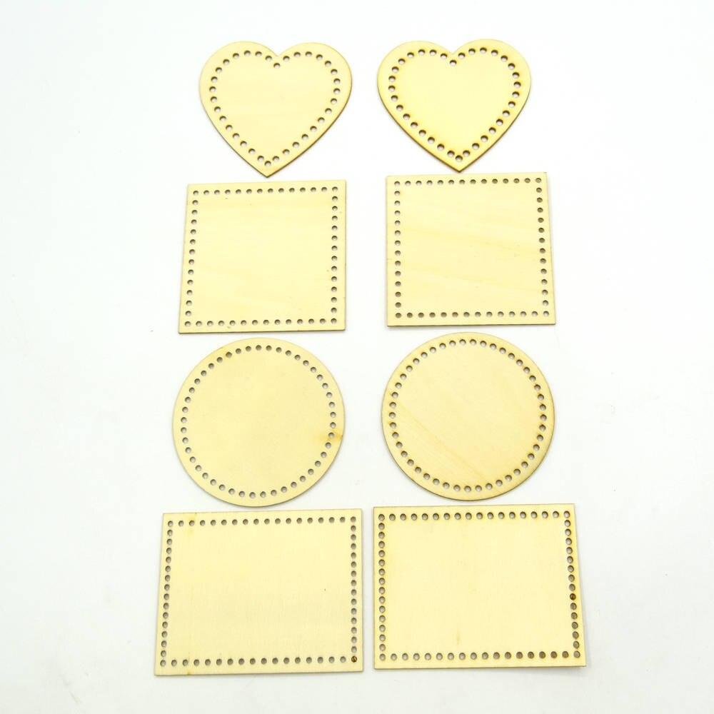 80Pcs Wooden Wood Heart Shape Scrapbooking Embellishment Craft Decor 2-6cm