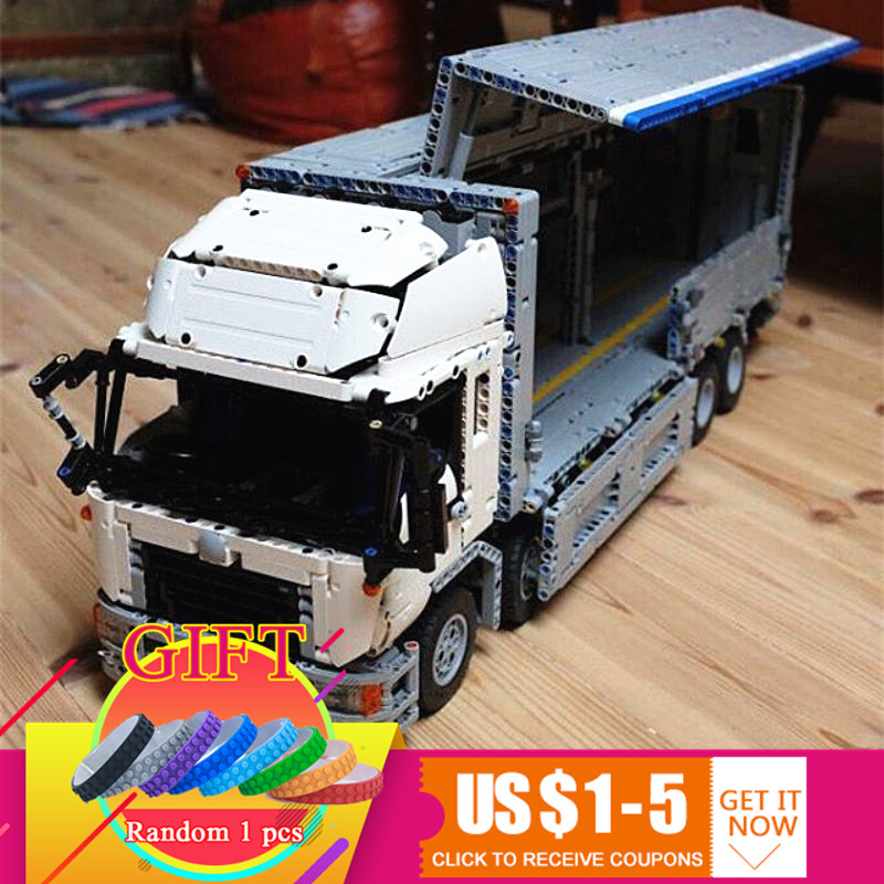 23008 4380Pcs Technical Series The MOC Wing Body Truck Set Compatible with 1389 Educational Building Blocks Children Toys 23008 4380pcs technical series the moc wing body truck set compatible with 1389 educational building blocks children toys