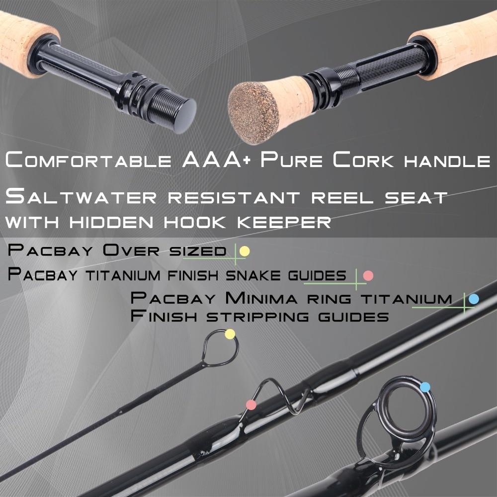 Black Star Fly Fishing Rods 4wt 5wt 6wt 7wt 8wt 9/' Fast Action Graphite IM10