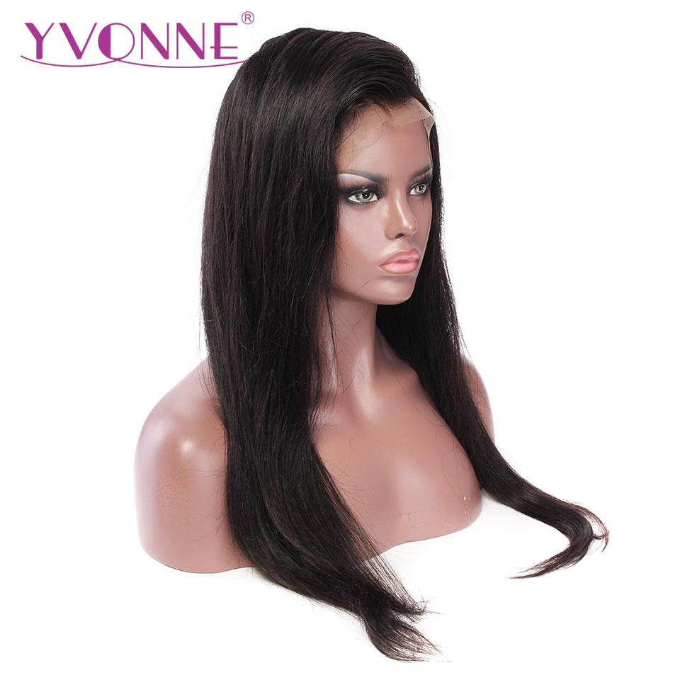 YVONNE Droite Avant de Lacet Perruques Pour Les Femmes 180 Densité Vierge Brésilienne Perruques de Cheveux Humains Avec la Couleur Naturelle