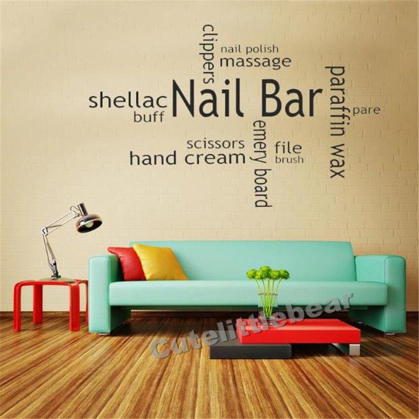 Nail Bar Collage Wall Art Picture Sticker Hair Beauty Salon Varnish ...