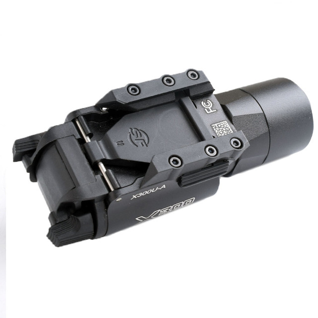WIPSON Tactical X300 X300U Flashlight Waterproof Weapon Light Pistol Gun Lanterna Rifle Picatinny Weaver Mount For Hunting 6