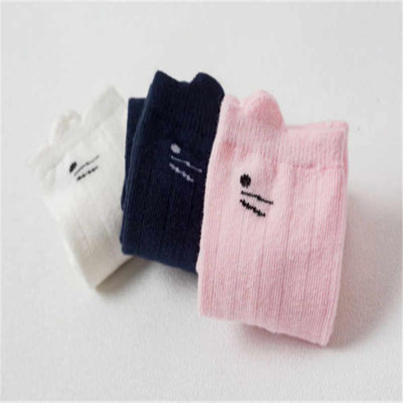 CANIS/гольфы для новорожденных девочек Детские милые хлопковые Высокие Колготки с рисунком для маленьких девочек Теплые Зимние чулки с котом