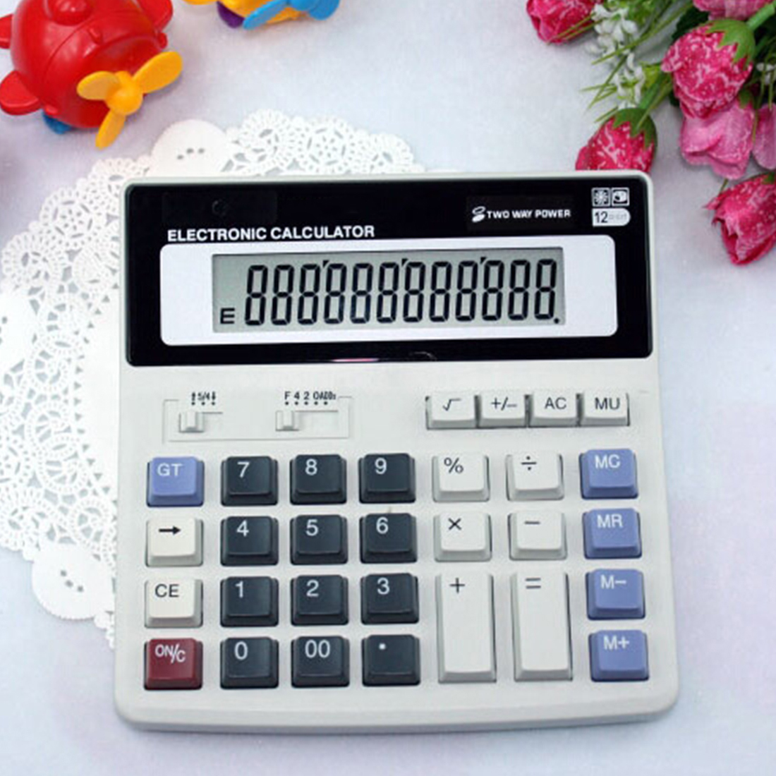 Etmakit New Arrival Big Buttons Office Calculator Large Computer Keys Muti-function Computer Battery Calculator etmakit office home calculator office worker school calculator portable pocket electronic calculating calculator newest