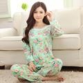Maternity pajamas  pregnant women's long sleeved home leisure cartoon cute new comfortable lace pants thin maternity sleepwear