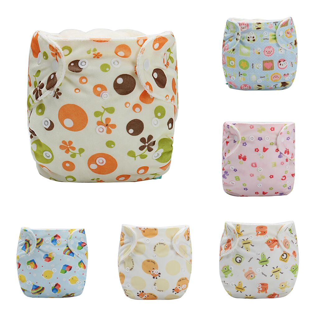 Baby Pocket Cloth Diaper Cover Washable Cartoon Animal Soft Breathable Baby Diapers Reus ...