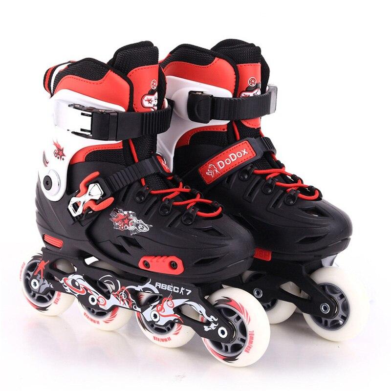 Inline Children Kids Slalom Sliding Ice Skates Shoes Adjustable Washable PE Aluminum Alloy Frame Patines Adulto Teenager Patins(China)