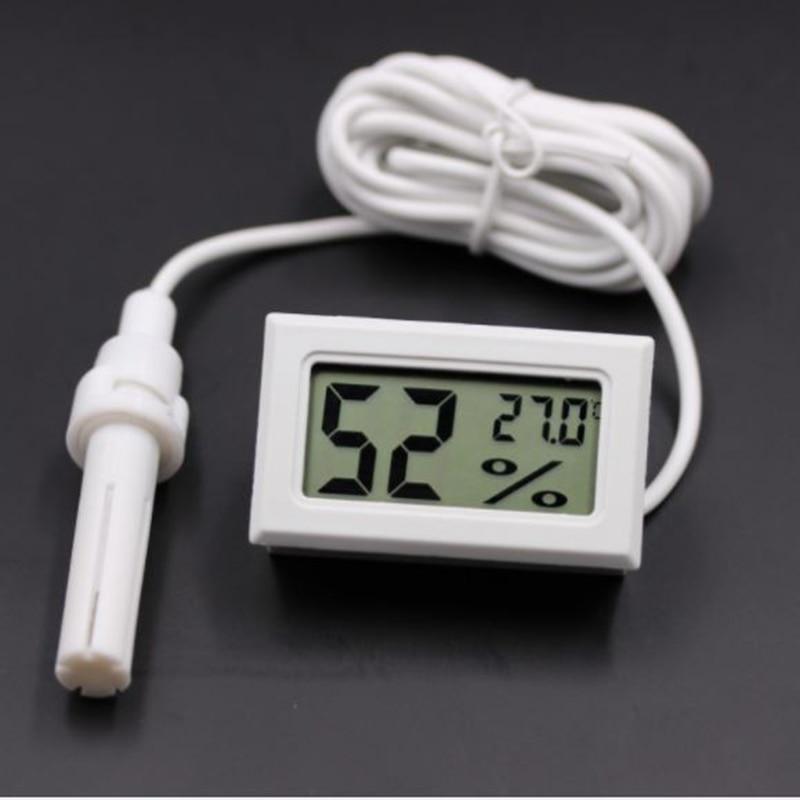 Mini LCD Digital Thermometer Hygrometer Temperature Indoor Convenient Temperature Sensor Humidity Meter Gauge Instruments With P