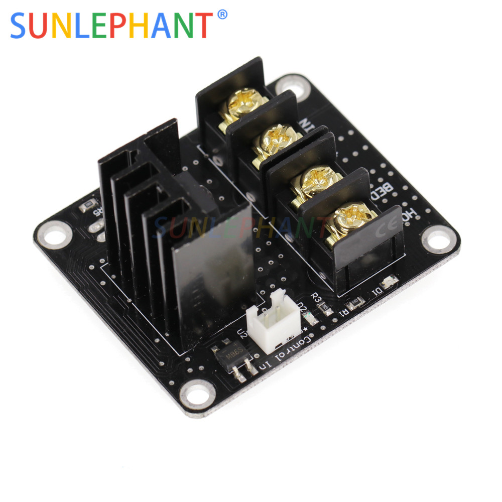 Heated Bed Power Module /Hotbed MOSFET Expansion Module Inc 2pin Lead With Cable for Anet A8 A6 A2 Ramps 1.4-in Integrated Circuits from Electronic Components & Supplies