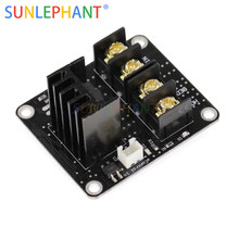 Heated Bed Power Module /Hotbed MOSFET Expansion Module Inc 2pin Lead With Cable for Anet A8 A6 A2 Ramps 1.4
