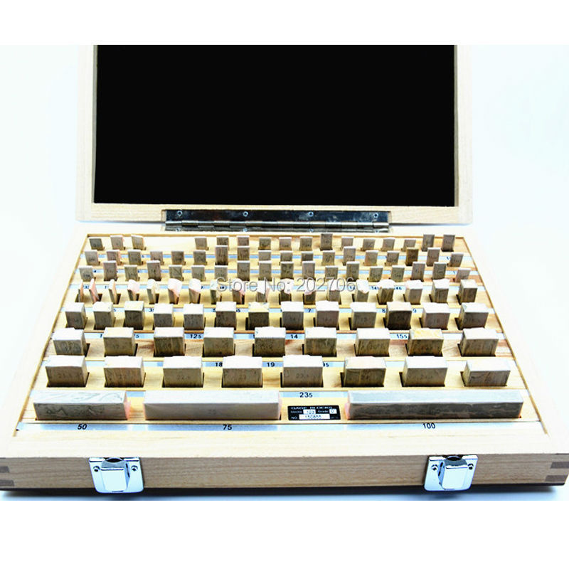 Block Gauge 103Pcs//Set 0 grade Caliper Block gauge Inspection Block Gauge Tools