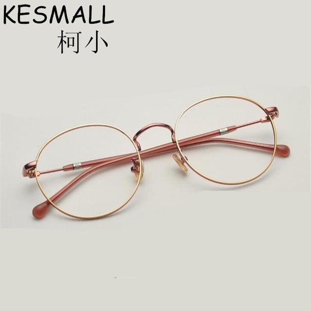 9a594fcbc7f74 2018 Luz Óptica Óculos de Armação De Metal Mulheres Homens Moda Miopia  Óculos Frames Oculos de grau Femininos Do Vintage Óculos YJ784