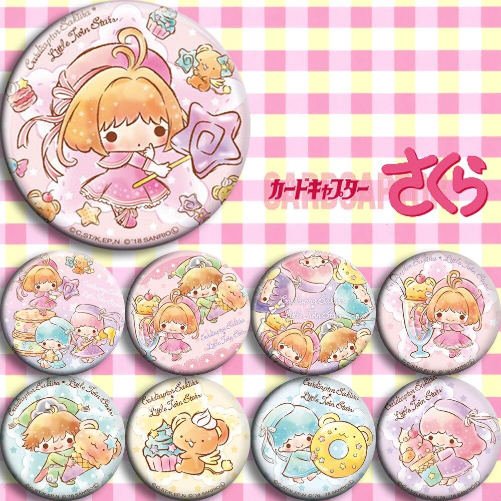 Japan Anime Card Captor Sakura Sanrio Cosplay Badge Cartoon Collection Backpacks Badges Bags Button Brooch Pins Gift