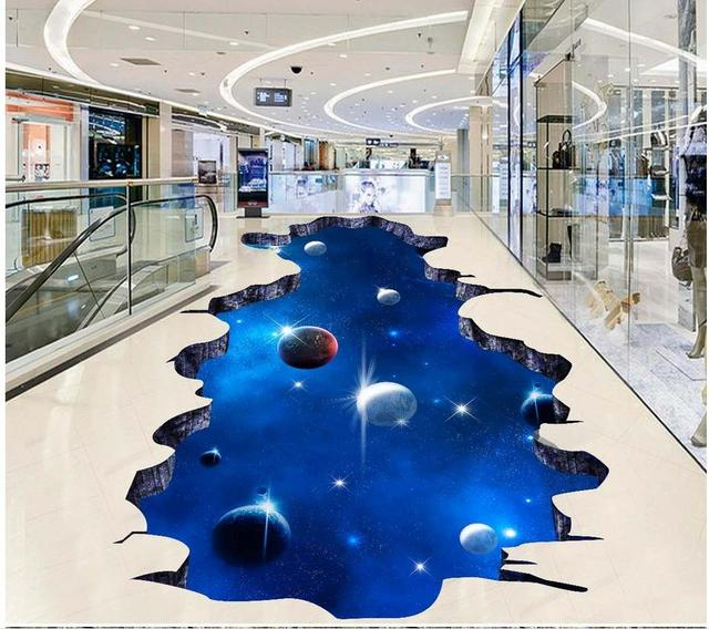 Sky 3d Dimensional Painting Outdoors Painting Floor Tiles