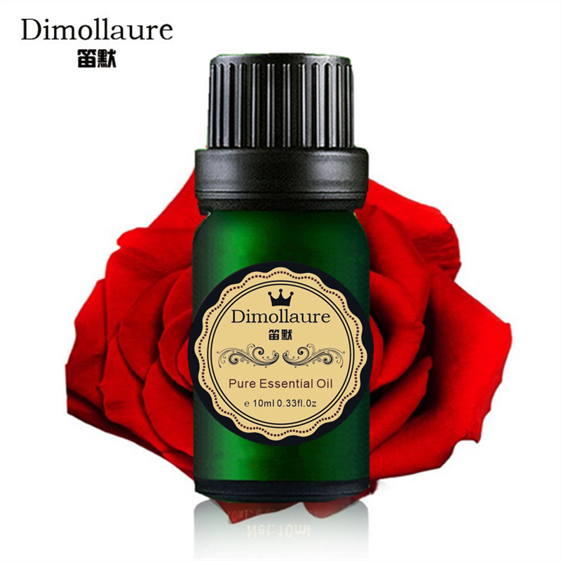 Dimollaure Rose essential oil foot Bath Spa body massage oil Plant essential oil for fragrance lamp humidifie Aromatherapy 5