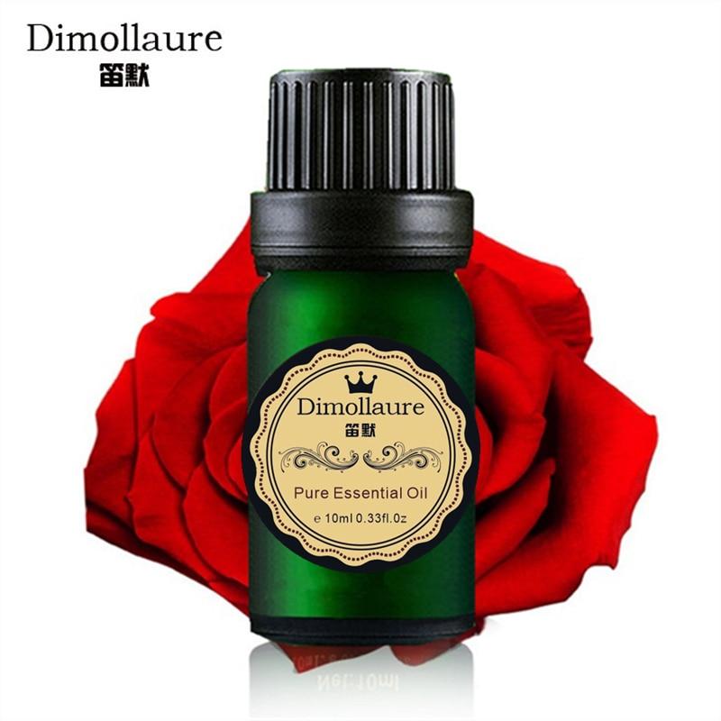 Dimollaure Rose Essential Oil 10ml hidratante de albire uleiuri de masaj Facial Îngrijirea pielii pentru parfum lampa de umidificare