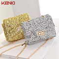 KEENICI Fashion Women Evening Party Bags Bling Gold Silver Shimmering Large Size Day Clutch Dinner Purse Wedding Shoulder Bag