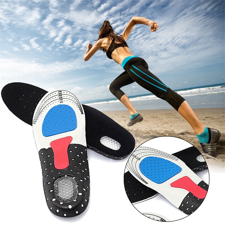 1pair Sport Shoes Pad Silicone Insoles Unisex Thickening Shock Absorption Basketball Football Shoes Pads Silicone Soft Insole