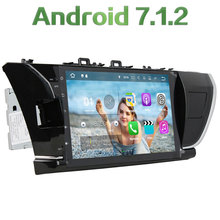 "Android 7.1.2 Quad Core 2 Din 10.1"" 2GB RAM new UI CAR dvd gps radio video player for Toyota Corolla 2014 2015 LHD"
