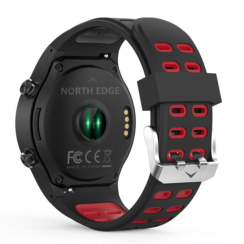 Northedge GPS montre intelligente en cours d'exécution Sport GPS montre Bluetooth appel téléphonique Smartphone étanche fréquence cardiaque boussole horloge d'altitude - 3