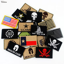 3D Stick-on Outdoors Tactical Moraal Badges Geborduurde Stickers Applicaties voor Hoed Rugzak Patches Doek Decoratie(China)