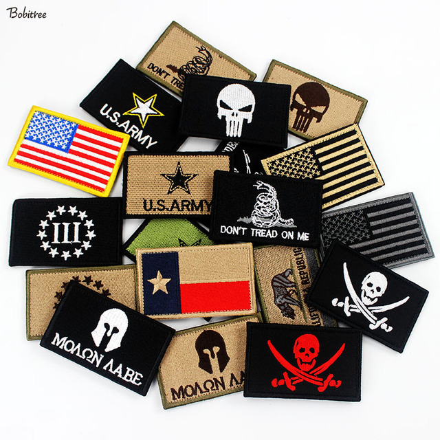 US $1 64 17% OFF 3D Stick on Outdoors Tactical Morale Badges Embroidered  Stickers Appliques for Hat Backpack Patches Cloth Decoration-in Patches  from