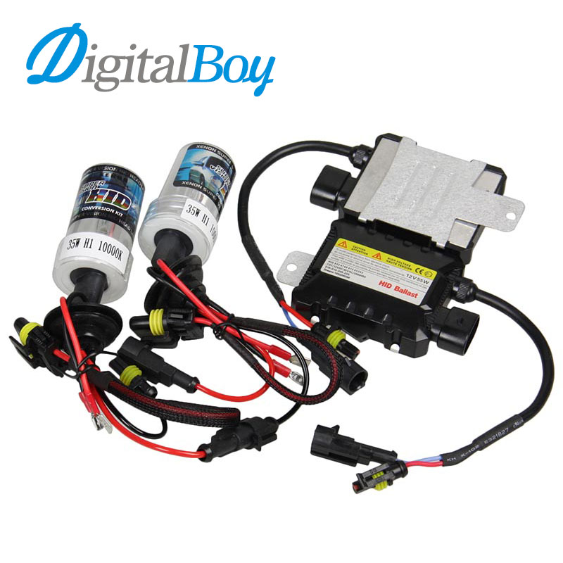 Slim DC 35W HID Ballast Kit H1 Xenon Bulb 35W Lights Kit 4300K 6000K 8000K 10000K for Car Headlight free shipping 10pcs 100% new scanpsc100f