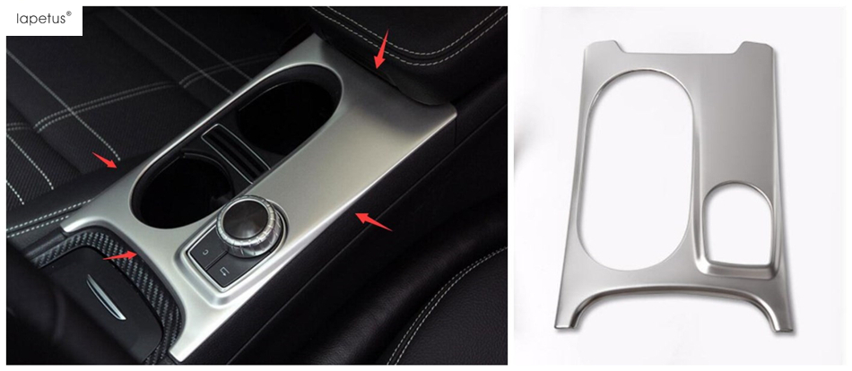Accessories For Mercedes Benz CLA 200 220 W117 2014 - 2017 Water Cup Holder Decoration Panel Molding Cover Kit Trim 1 Piece