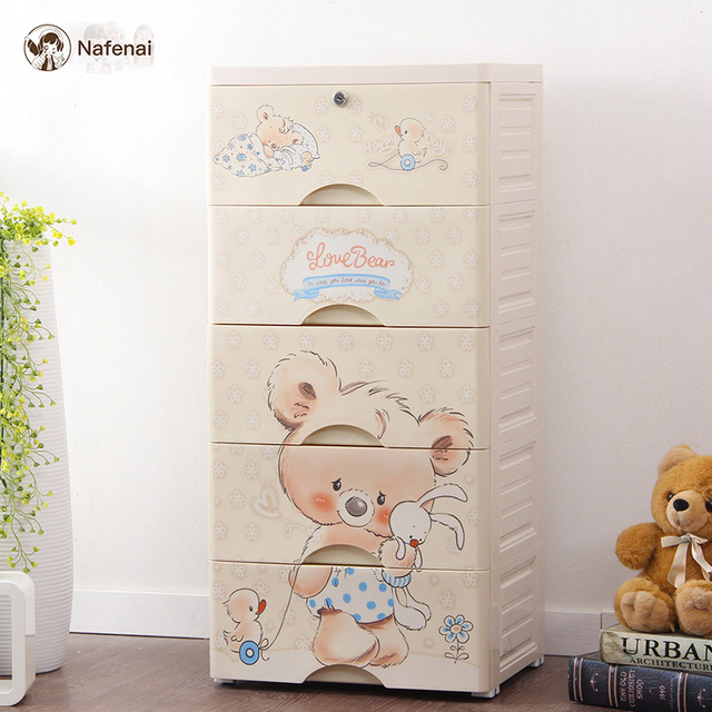 Plastic Storage Drawer Groceries storage box Clothes Storage Cabinet Children for bedroom Wardrobe Portable storage box for toys