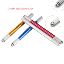 Double-head 2in 1 Permanent Makeup Pen for Microblading Eyebrow Tattoo Manual Pen Machine for Tattoo Needles Blade 3D Embroidery biomaser 3d eyebrow microblading pen eyebrow tattoo machine permanent makeup manual microblading penna with 12pins needles