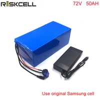 72Volt 3000Watt eBike Lithium Battery 72V 50Ah 18650 Battery Pack For Electric Bike +4A charger For Samsung cell