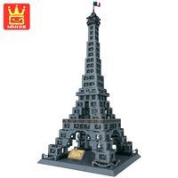 WANGE THE EIFFEL TOWER OF PARIS 978PCS Large Blocks Teaching Building Bricks Model Sets Dolls