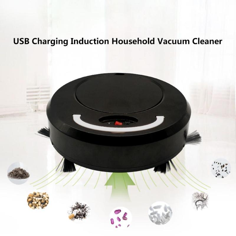 Aspirateur Rechargeable USB Robot de balayage de sol Auto-Induction Intelligent aspirateur balai de balayage automatique domestique