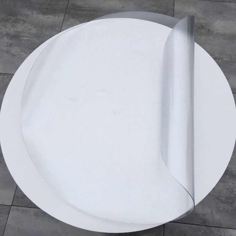 2 мм Толстая Водонепроницаемая круглая скатерть из ПВХ, мягкая стеклянная пластиковая скатерть, Хрустальный коврик для журнального столика