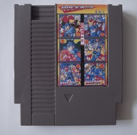 Top Quality 72 Pin Game Card 8 Bit Game Cartridge Super 6 In 1 With Rockman